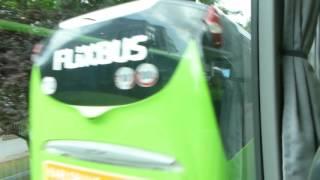 FLIXBUS Abfahrt ZOB München Ansage Fahrer