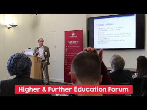 SMP Higher & Further Education Forum - Alistair Tough, University of Glasgow