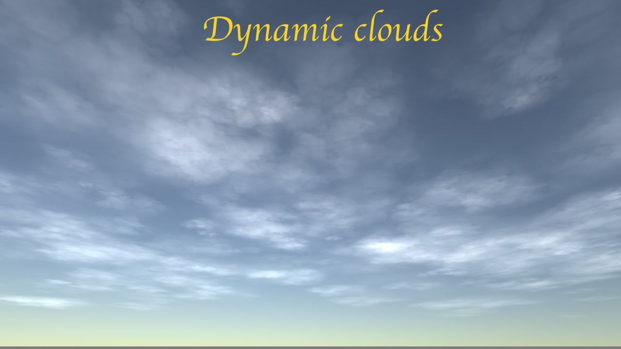 [Unity3d] Creating simple dynamic sky clouds (Tutorial)
