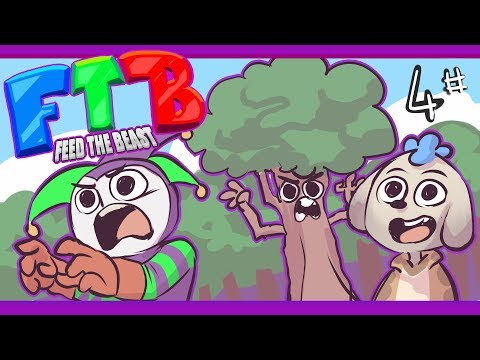 THE TREES! STRIKE BACK! | Minecraft Feed the Beast: Ep 4(Survival Multiplayer)