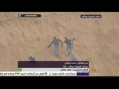 فيديو حصري يظهر تمكن عدد من الشباب الفلسطيني في غزة للوصول إلى حفار إسرائيلي