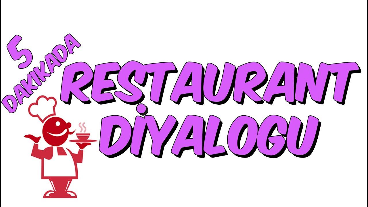 5dk Da Ingilizce Restaurant Dialogu
