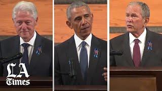 Former Presidents Bush, Clinton and Obama speak at John Lewis' funeral