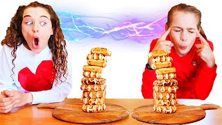 TWIN TELEPATHY OF WAFFLES (Baffles Restaurant) Challenge By The Norris Nuts
