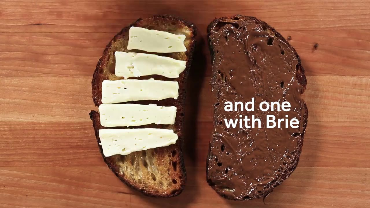 Brie and Nutella Grilled Cheese Recipe - YouTube