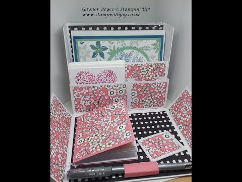 Stationery Gift box using Stampin' Up! products