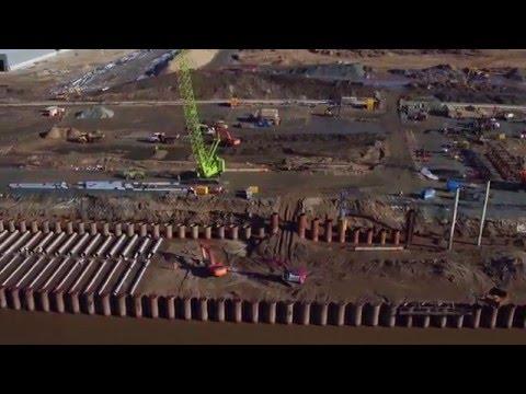 Alexandra Dock - latest drone footage of enabling works