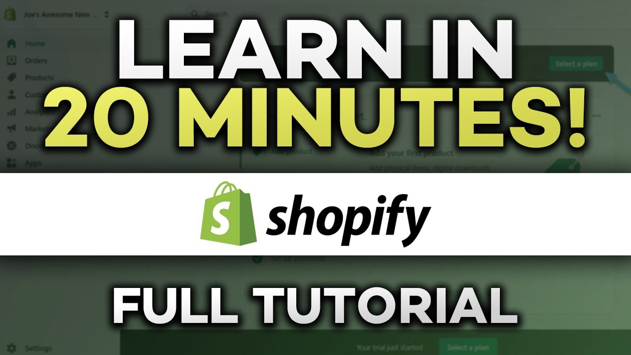 How To Start a Shopify Dropshipping Store in UNDER 20 MINUTES! (for BEGINNERS)