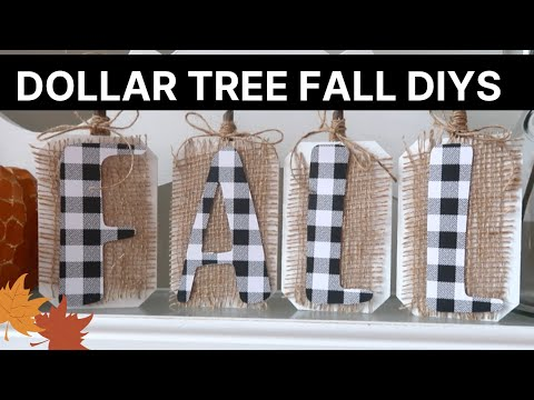 Fall Dollar Tree DIYs | Rustic Farmhouse + Buffalo Check