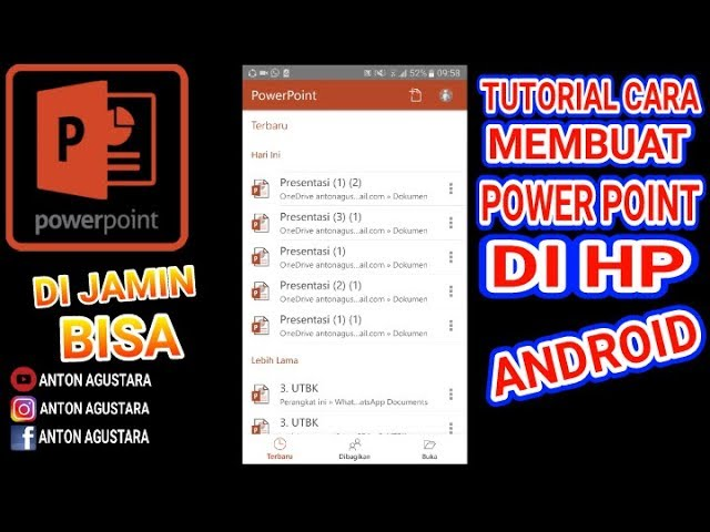 Tutorial Cara Membuat Powerpoint Di Hp Android Anton Agustara Youtube