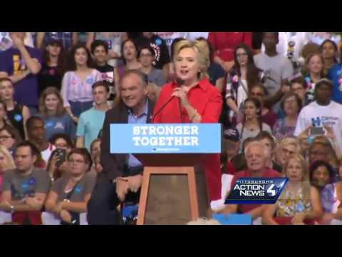 Full video: Kaine, Clinton speak at Pittsburgh campaign rally
