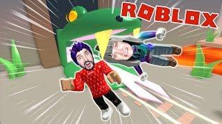 Roblox: SCHLUCKT FROM XXL SCHLANGE! KAAN + NINA MUST ESCAPE! Wild West Obby Escape
