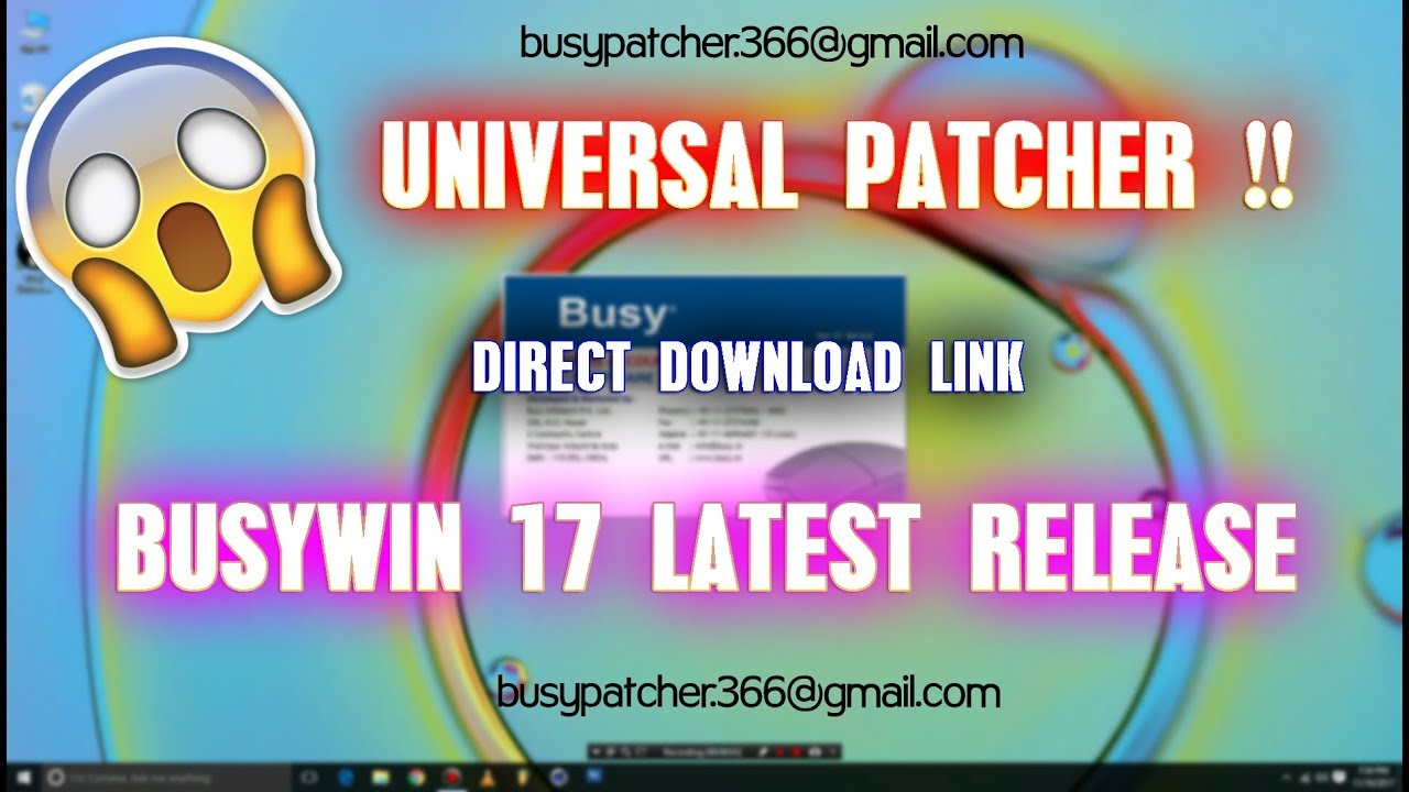 busywin 17 universal patch download