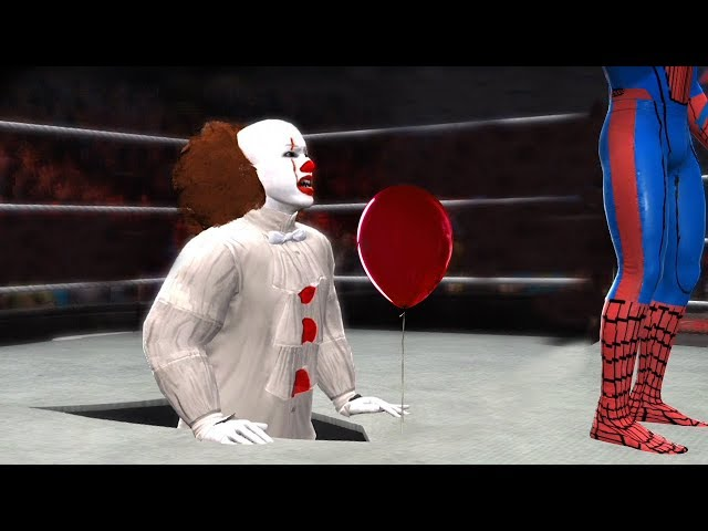 SPIDERMAN vs PENNYWISE (IT) - Hell In A Cell Match