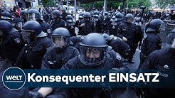 1. MAI IN BERLIN: Hunderte Demonstranten ziehen trotz Corona durch Kreuzberg