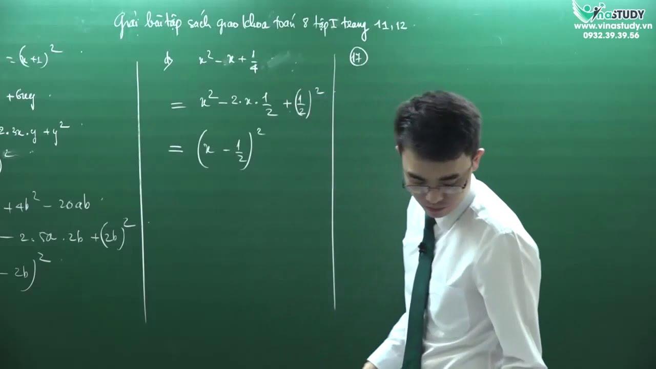 [Toán lớp 8] Giải bài tập trang 11,12 – Sách giáo khoa toán 8 tập 1