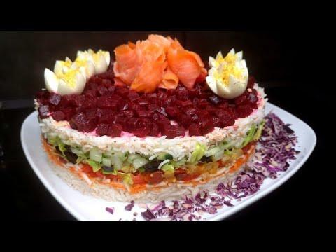 recette-de-salade-composÉe-pour-les-fÊtes-facile-accompagnÉe-d'une-vinaigrette-!!-😍😍