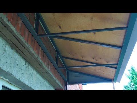 Устройство крыши для балкона.