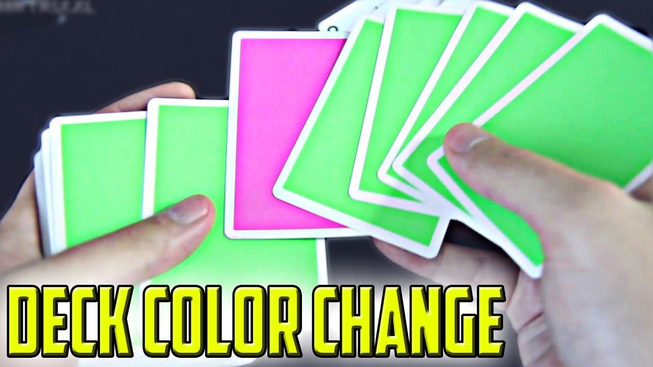 Download Anfänger Kartentrick mit DECK Color Change (alle 52 Karten) - mit Erklärung (Criss Angel Trick)