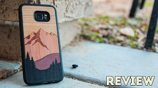 Carved S7 Edge Wood Case Review - Mount Bierstadt Inlay