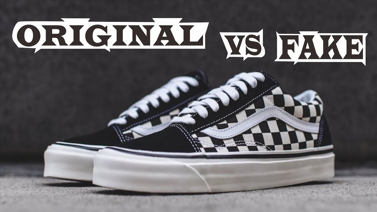Vans Old Skool Checkerboard Black White Original & Fake