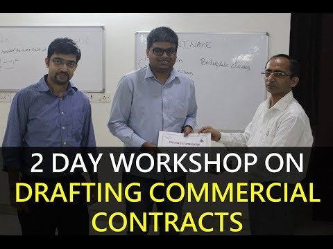 2 day workshop on Drafting Commercial Contracts