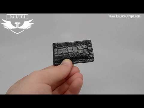 DaLuca Handmade Alligator Money Clip - Black