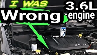 3.6L Pentastar V6 Problems Engine Oil Recommendation. I was WRONG. 5W-20 ticking rocker arm noise