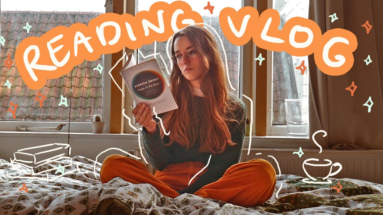 a soft and wholesome reading vlog ☁️☕