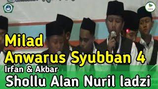 Merdunya Suara Irfan dan Akbar-Sollu Alan Nuril Ladzi l Milad Anwarus Syubban Yang Ke-4.