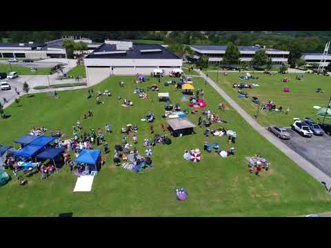 Drone View at Roane State Community College in Harriman, TN