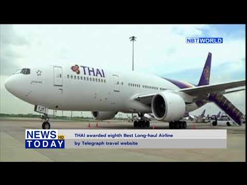 THAI awarded eight Best Long-haul Airline by Telegraph travel website
