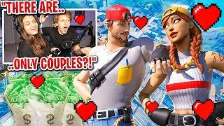 I got GIRLFRIENDS & BOYFRIENDS to scrim for $100 in Fortnite... (couples only scrims)