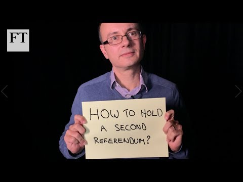 Brexit: how to hold a second referendum