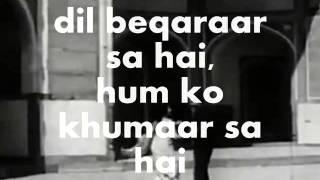 Dil Beqaraar Sa Hai-Karaoke & Lyrics-Ishaara