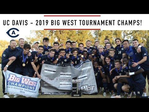 UC Davis Men's Soccer Defeats UCSB In Big West Tournament Final 2019-11-2