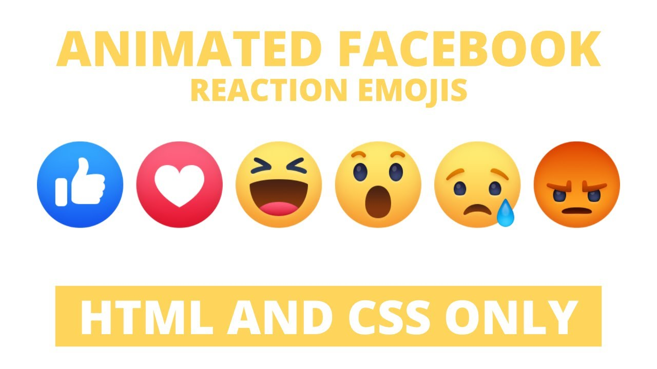 Facebook Wow Reaction using HTML & CSS