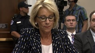 DeVos won't rule out giving funds to private schools...