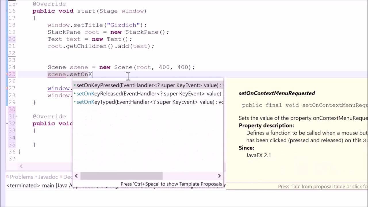 Java tutorial 54 javafx gui handling keyboard inputs youtube java tutorial 54 javafx gui handling keyboard inputs baditri Image collections