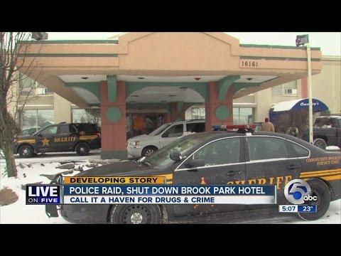 Police raid, shut down Brook Park hotel