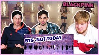 NON KPOP FANS REACT TO BTS + BLACKPINK | Русские парни реагируют на BTS + BLACKPINK  | BAH
