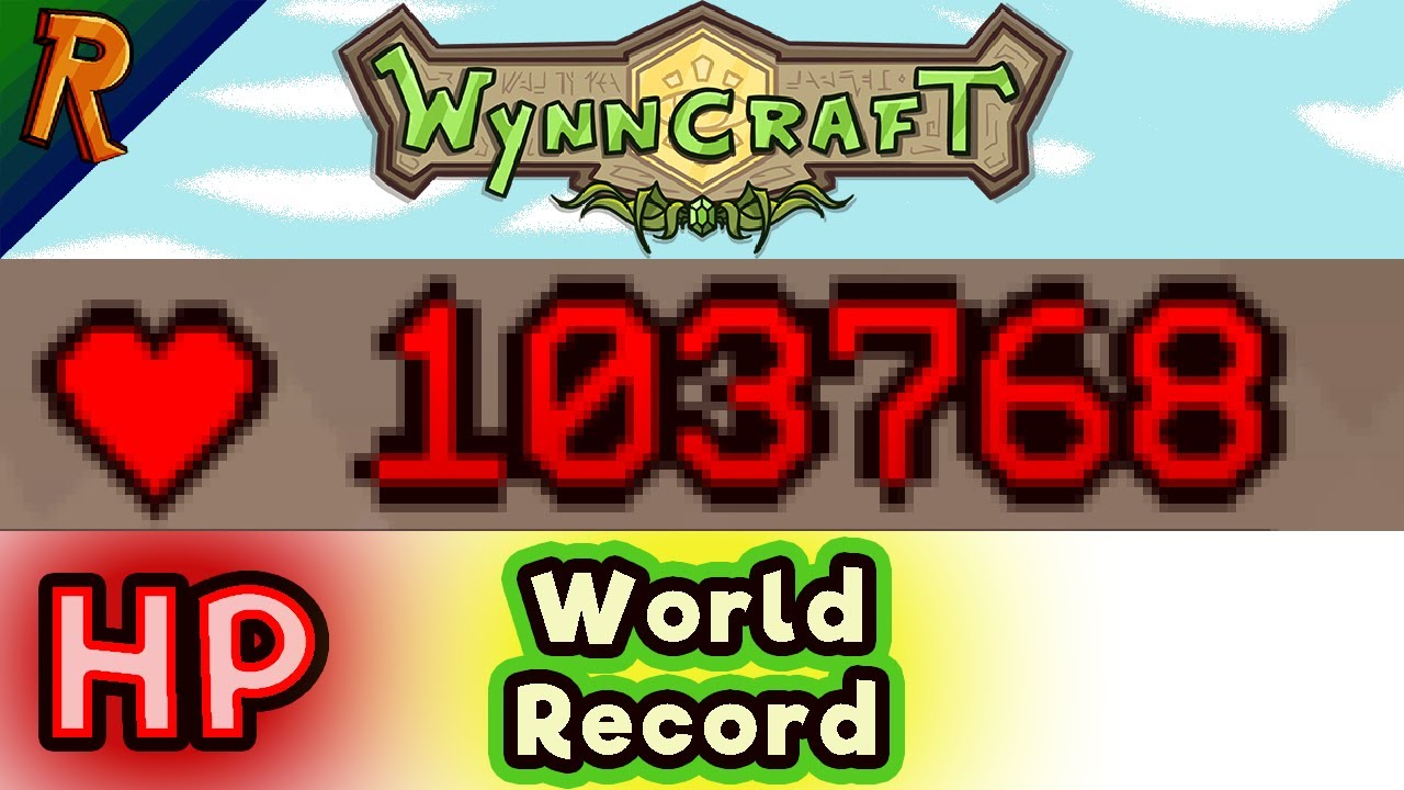 Wynncraft World Record - Most HP ever held (103 768HP)