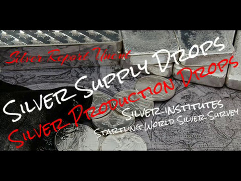 Silver Production Drops! Silver Supply Drops! Silver Price Will See Serious Moves! silver institute