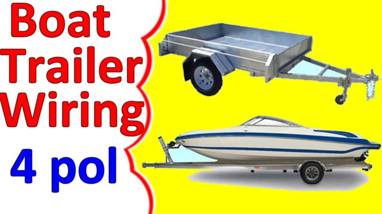 boat trailer wiring diagram 4 pin youtube