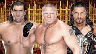 Roman Reigns vs Brock Lesnar vs The Great Khali Punjabi Prison Match
