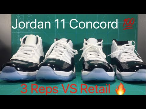 b6aef2c5689 Nike Air Jordan 11 Concord 2018 Real Vs 3 Reps