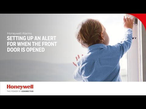 Setting up an alert for the front door | Alarms | Honeywell Home