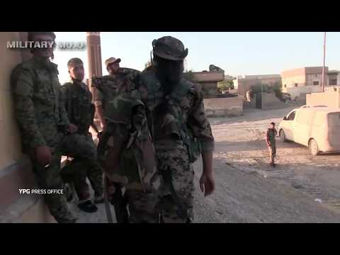 Syria War -  Battle for Raqqa  Kurdish YPG & SDF Forces in Urban Fighting And Firefights