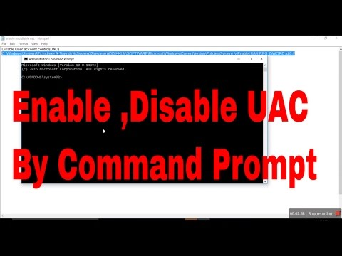 How To Enable And Disable User Account Control By Command Prompt
