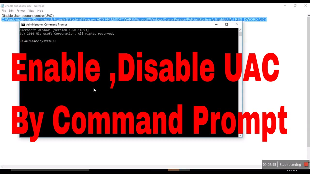 How to enable and Disable User account control by Command Prompt  #computerrepair #computerrepair